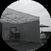 Tentes, Chaises, Tables, Pluie